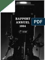 Rapports d'activité de la RTBF (Radio Télévision Belge Francophone) 1984
