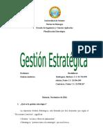 Gestión estratégica. planificación