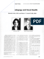 Choral Pedagogy and Vocal Health