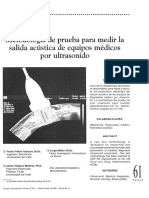 Metodologia de Prueba Para Medir La Salida Acustica de Equipos Medicos Por Ultrasonido