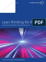 Healthcare Lean Thinking for the Nhs Leaflet