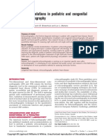 Recent Evolutions in Pediatric and Congenital