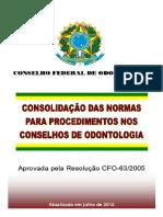 CRO - Consolidação Das Normas Para Procedimentos Nos Conselhos
