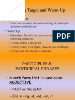 participles and participial phrases powerpoint