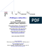 Master Politiques Culturelles 2011-2012