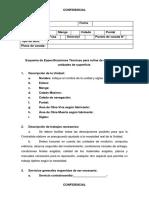 Formato de Especificaicones Técnicas Para Varada.