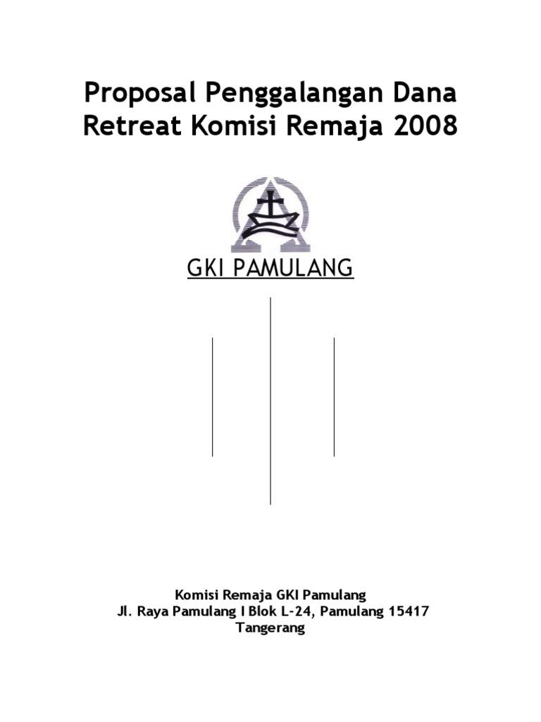 Korem Proposal Penggalangan Dana Retreat Komisi Remaja