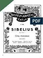 Jean Sibelius Le sapin op 75 N5