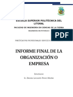 7 for-uvs-15 Informe Final Practicas Organizacion o Empresa v1 - 2016
