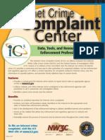 Internet Crime Complaint Center Flyer