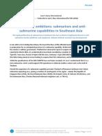 Submarines and Anti-submarine Capabilities in Southeast Asia