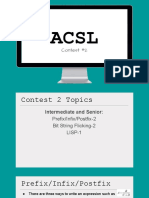 acsl contest 2 notes - prefix 2finfix 2fpostfix bit string flicking lisp  1