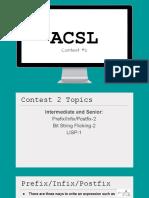 acsl contest 2 notes - prefix 2finfix 2fpostfix bit string flicking lisp  1