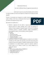 Administración Financiera Formas de Organizacion Empresarial