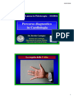 Percorso Diagnostico in Cardiologia - Fisioterapia 2016