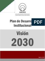 Plan de Desarrollo Institucional Vision 2030 ANUIES