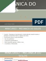 Aula 01- Minicurso Mecanica Do Solo