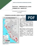 Indeci - Temporada de lluvias Diciembre 2016 - Marzo 2017