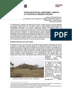 2015.06.19 Establecimientos Incas en El Subtramo Lampas – Pueblo Viejo en La Region Ancash