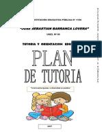 Plan Anual de Tutoria de La I.E. JSBL Ccesa007
