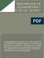 POLARIMETRIA Y LEY DE BIOT