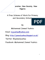 Teaching Scheme of Work
