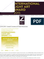 Internacional Lighr Art Award 2015