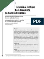 Identidad Femenina Cultural Y Nacional En CarameloDe Sand