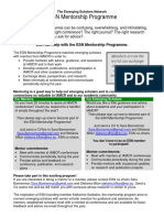 Mentorship Program Flyer 2010