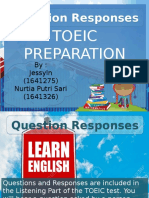 Question Responses TOEIC