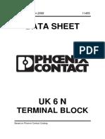 Phoenix UK 6 N Terminal Block