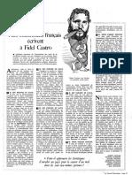 Huit intellectuels français écrivent à Fidel Castro (Nouvel Observateur, septembre 1968)