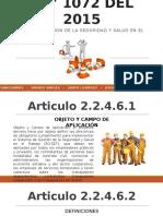 Presentacion Ley 1072 Del 2015