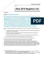 Indonesias New 2016 Negative List