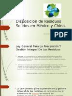 Disposición de Residuos Solidos en México y China