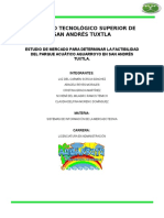 Investigacion de Mercado Aquarroyo