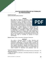 Importância Da Neurociência Na Formação Do Professor