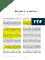 La Categoría Trabajo en La Medicina
