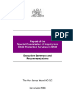 Report of the Special Commission of Inquiry into Child Protection Services in NSW, Executive Summary