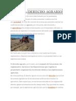 DEFINICIÓN DEDERECHO AGRARIO