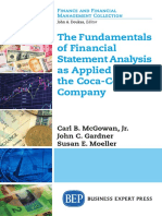 The Fundamentals of Financial Statement Analysis as Applied to the Coca-Cola