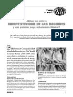 Como Se Mide La Competitividad de Las Naciones y Qu- Posicion Juega Actualmente Mxico