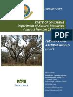 Chenier and Natural Ridges Study Coastal Louisiana