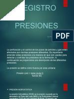 5.1.1 Registro de Presiones en pozos
