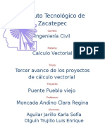 Aplicacion del calculo vectorial Puente Pueblo Viejo