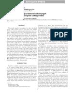 Syneresis and Rheological Behaviors of Set Yogurt Containing Green Tea and Green Coffee Powders