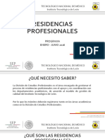 Residencias Profesionales Ene - Jun 2016