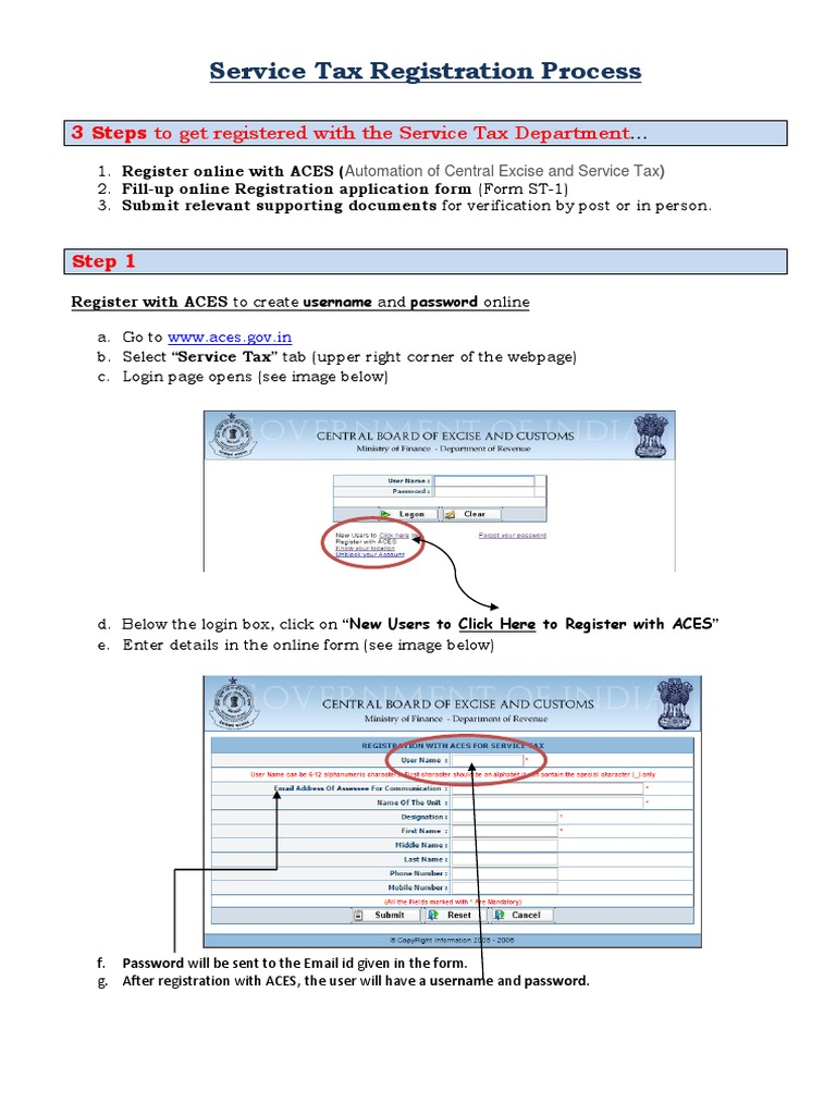 Service Tax Regn - Process   Identity Document   Government   Free 30-day  Trial   Scribd