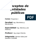 Conceptos de Entidades Públicas
