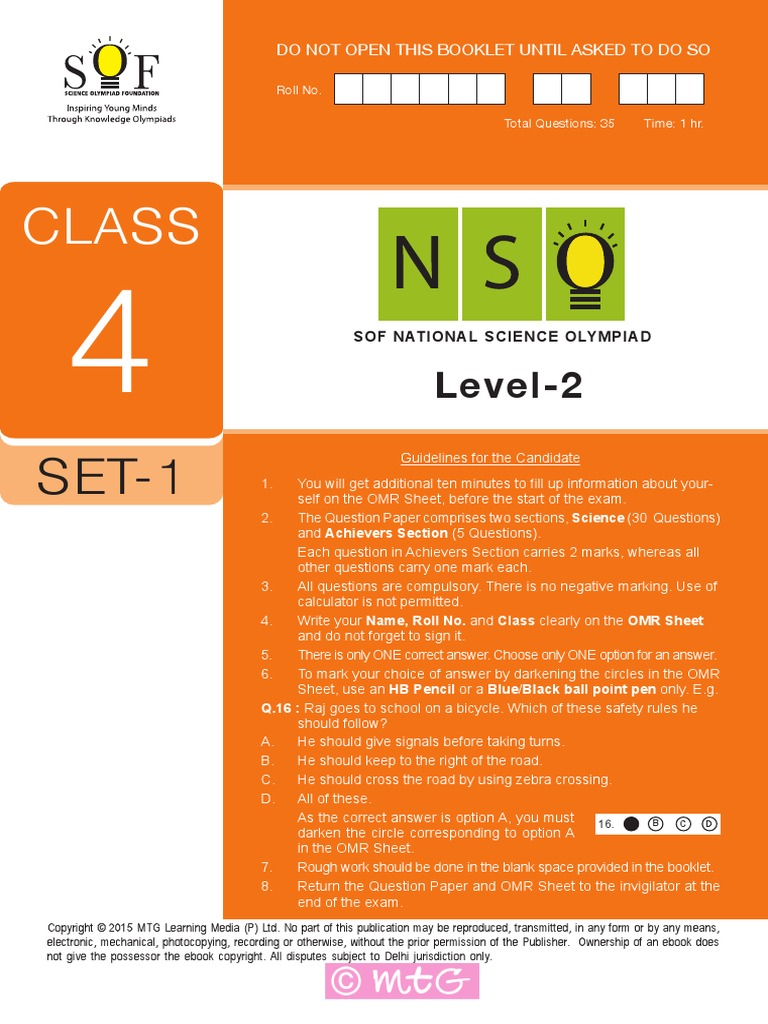 Nso level2 class 4 set 1 solution planets fandeluxe Gallery